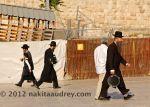Orthodox jews at the western wall jerusalem