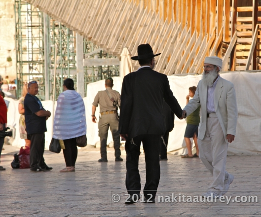 Sabbath in the Western wall jerusalem israel