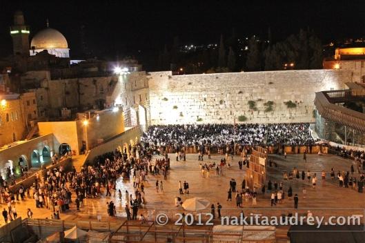 Sabbath in the western wall jerusalem