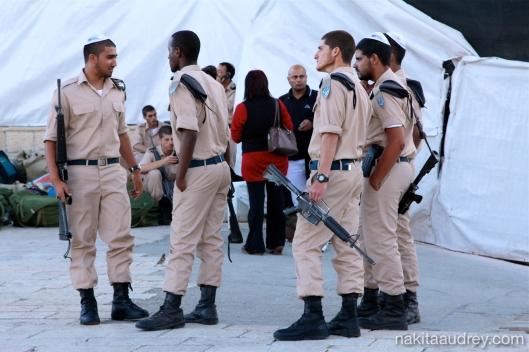 IDF soldiers western wall jerusalem israel