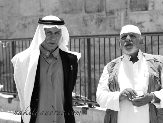 Arabs at Damascus gate old city jerusalem israel