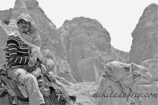 Bedouin camel handler Petra Jordan