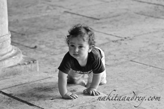 Hassidic toddler Jewish quarter old city jerusalem Israel
