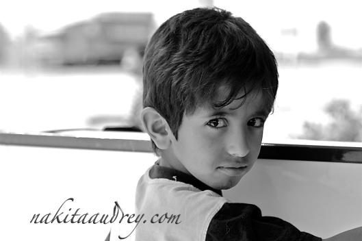 Jordanian boy Wadi Rum Jordan