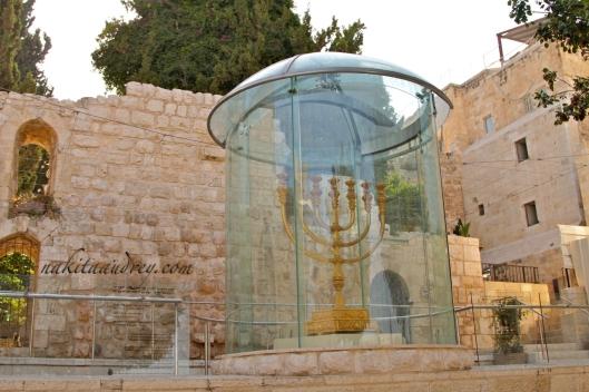 Second Temple Menorah replica Jewish quarter old city jerusalem israel