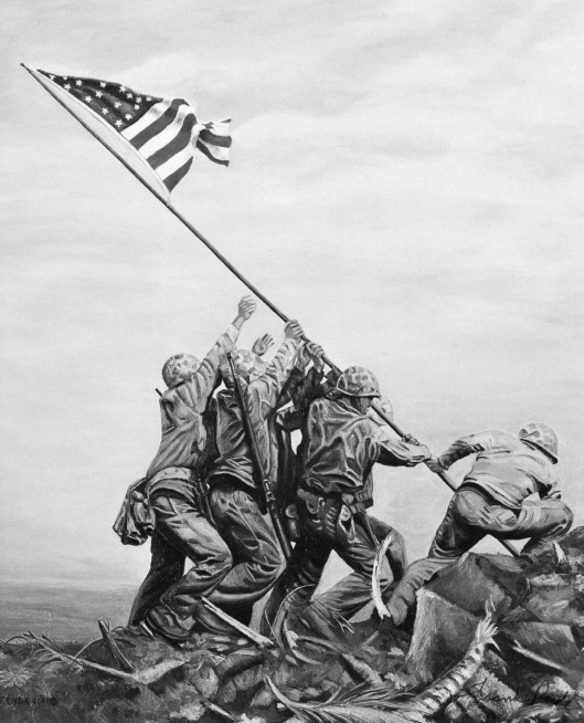 Raising of American flag in Iwo Jima