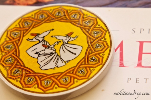Whirling dervishes coaster from Istanbul Turkey