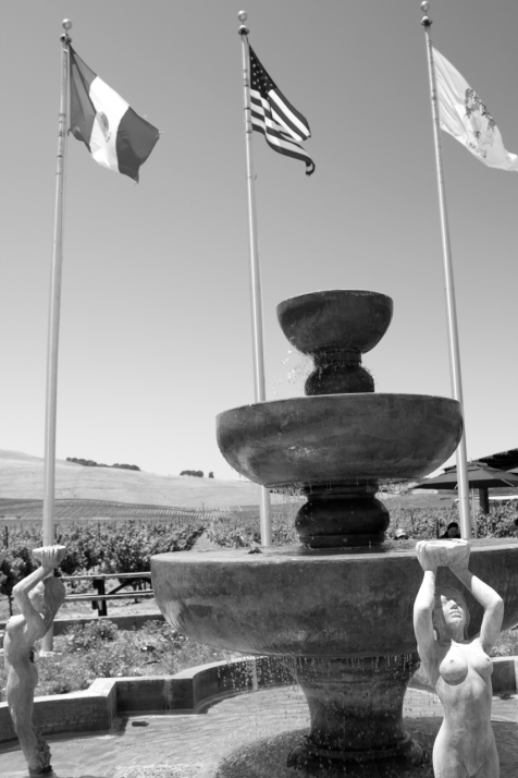 Fountain at Robledo winery Sonoma California