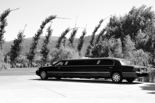 Limousine in Peju winery Calistoga California