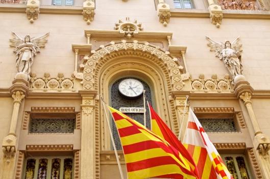 A building along Las Ramblas Barcelona