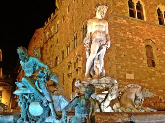 Piazza della Signora Florence at night