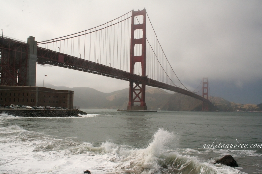 San Francisco Golden Gate Bridge winter