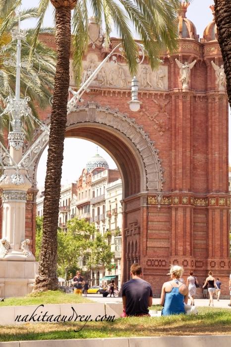 Arc di triomf Barcelona Spain