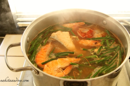Salmon and shrimp sinigang recipe 2