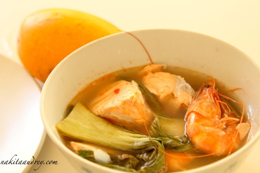 Salmon and shrimp sinigang recipe 4