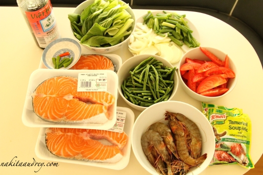 Salmon and shrimp sinigang recipe