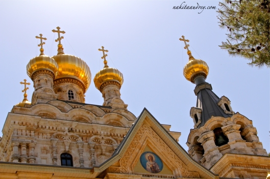 Russian Orthodox church Mount Olives Jerusalem